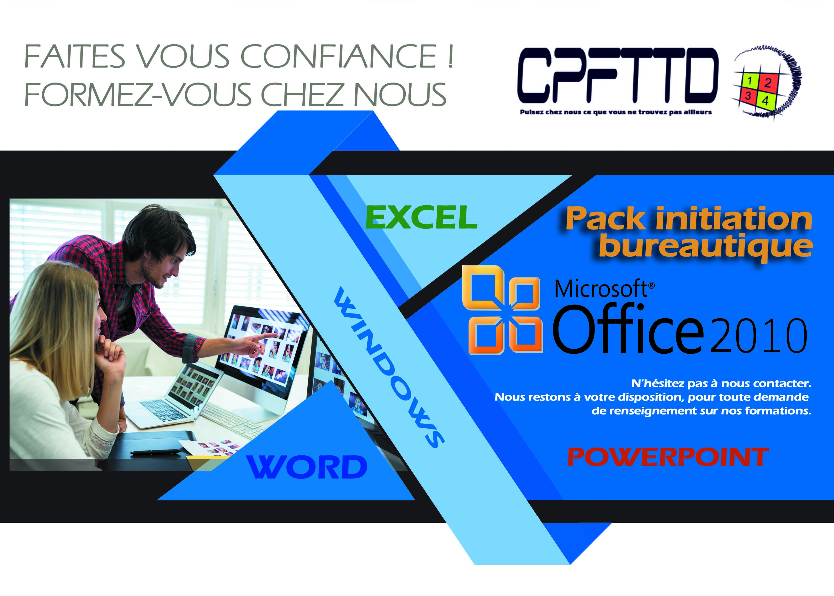 Formation Ms Office 2010, powerpoint, excel, word,2010